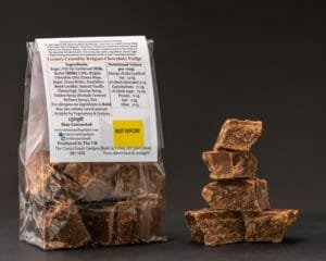 CCG Crumbly Belgian Chocolate Fudge Rear Pack Info