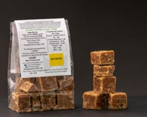 CCG Crumbly Ginger Fudge rear Pack Info