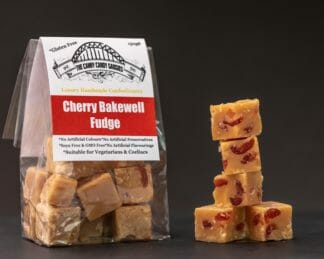 Canny Candy Gadgies Cherry Bakewell Fudge