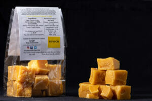 The Canny Candy Gadgies Banana Fudge rear pack info